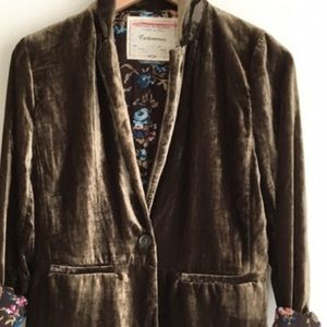 Anthropologie Cartonnier velvet blazer SZ 6.